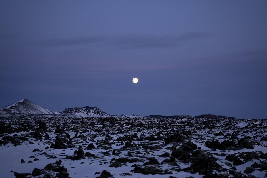 Moonrise Iceland