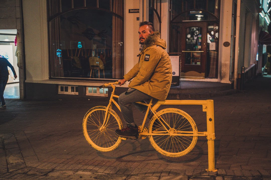 Yellow Bike in Reykjavík