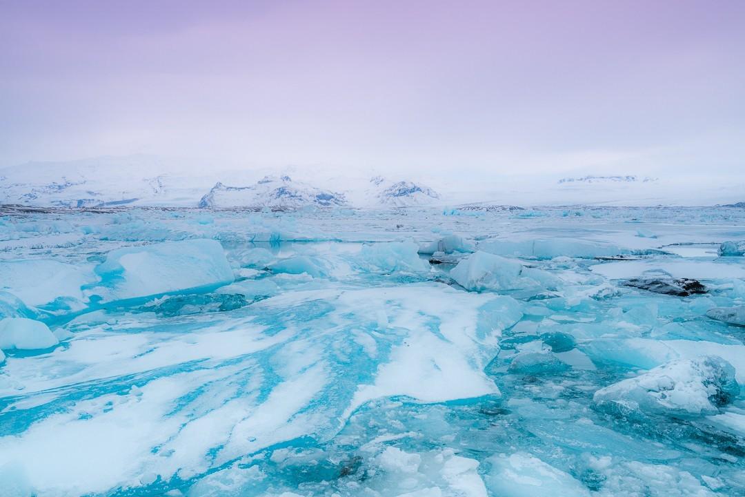 Glacier Lagoon Sunrise Iceland