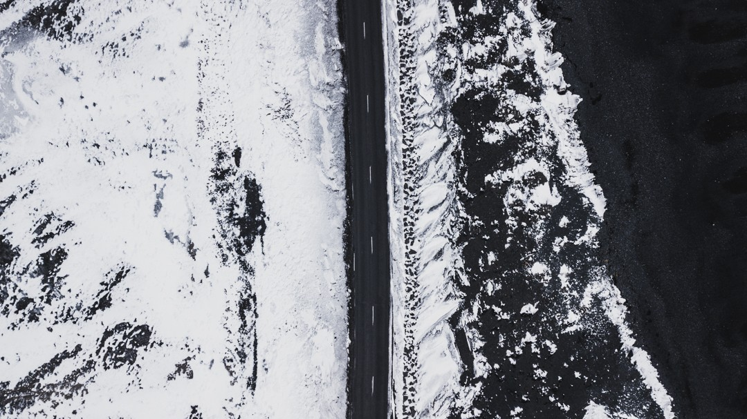 Winter Iceland Drone