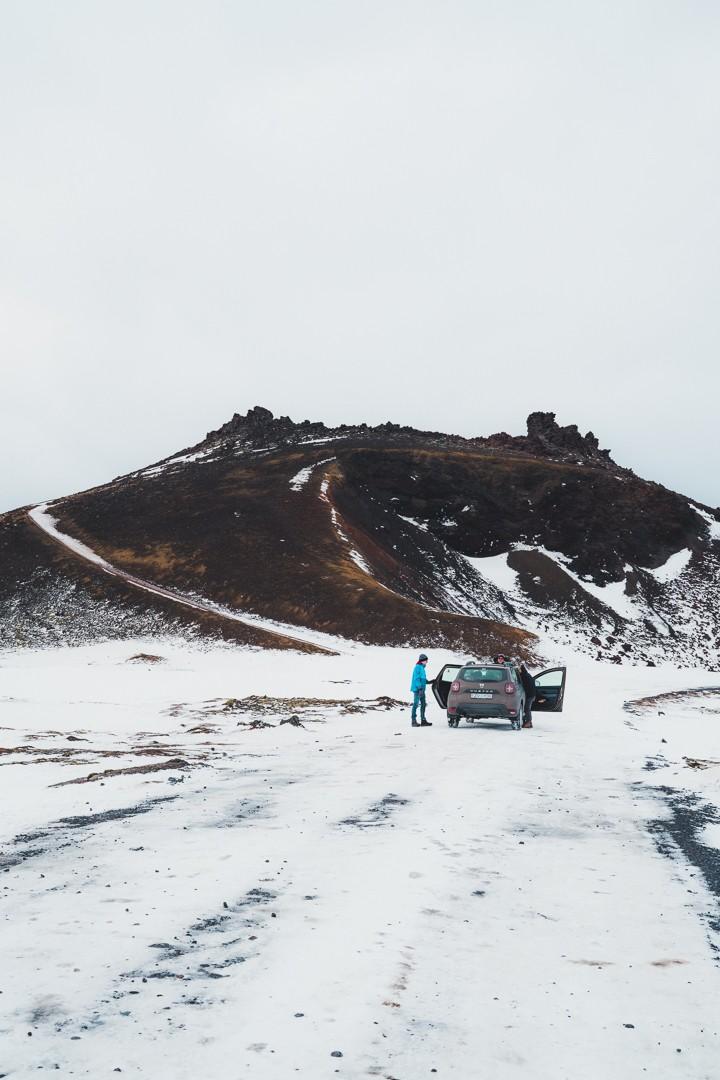 Winter Volcano Iceland